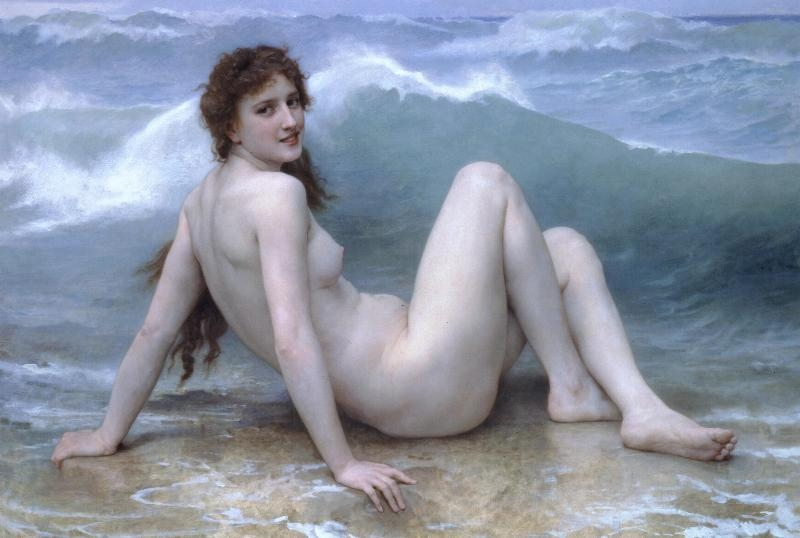 Mozaïek FK040 Details Bouguereau: The Wave 2